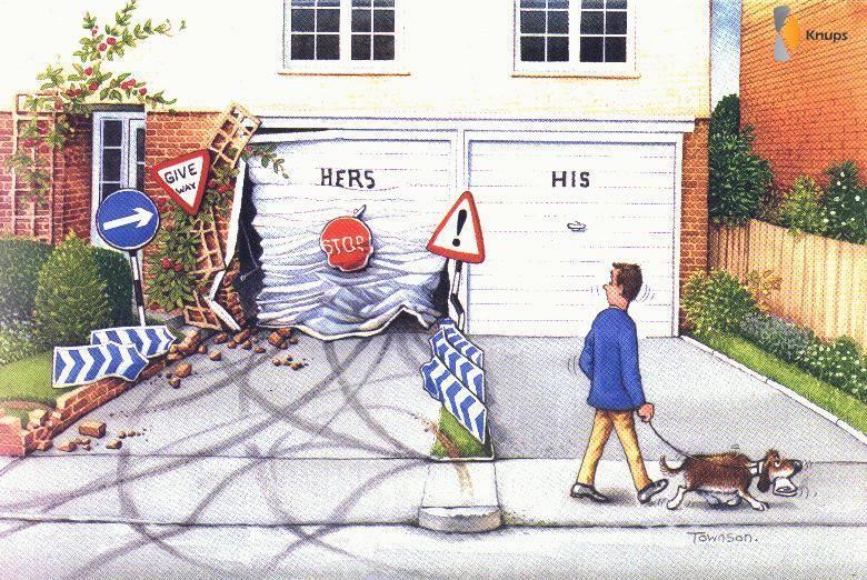 garage van de vrouw en de man