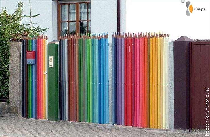 hek van grote potloden