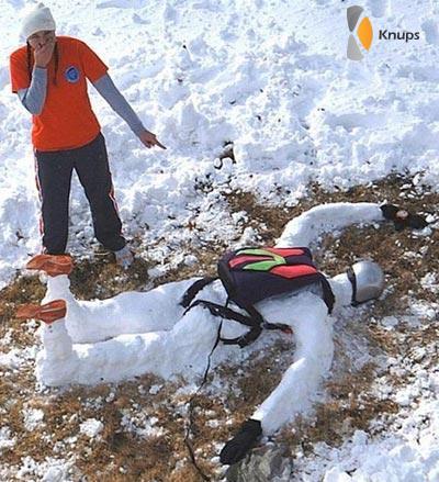 gevallen sneeuwpop