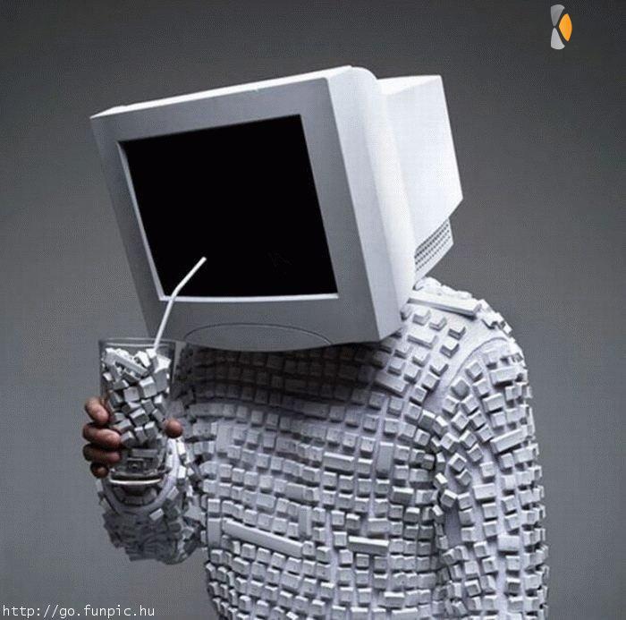 een computerman