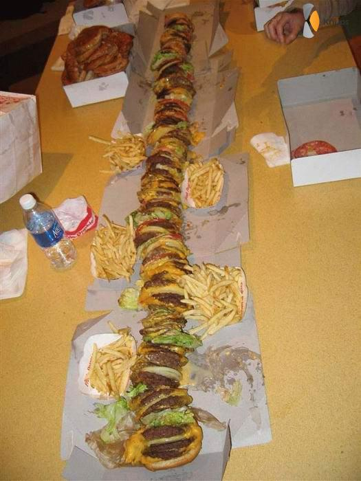 hele grote hamburger
