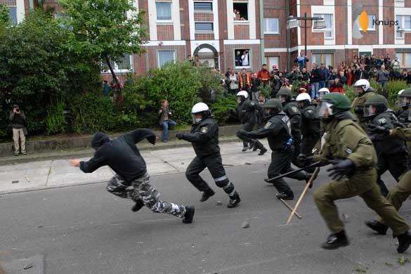 rennen voor de politie