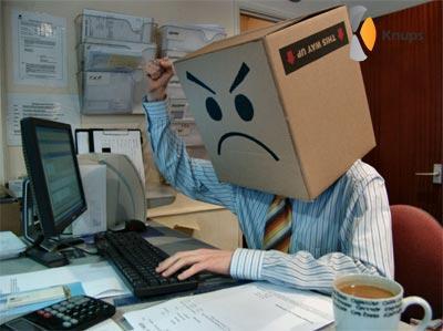frustratie op het werk