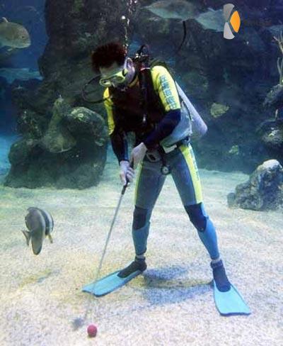onderwater golfen
