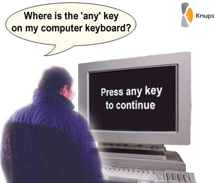 waar zit de any key?