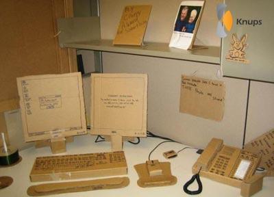 kartonnen kantoor