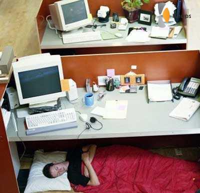 slapen op het werk