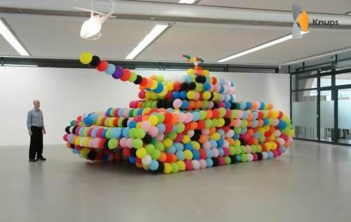 tank van ballonnen