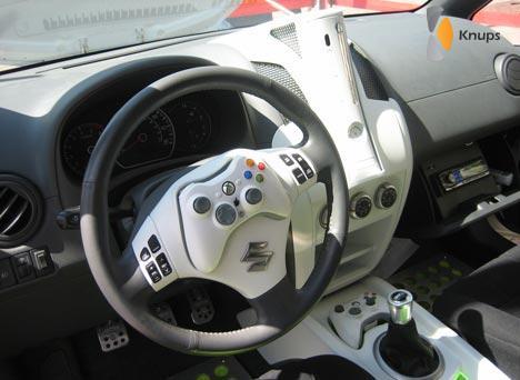 gamen tijdens het rijden