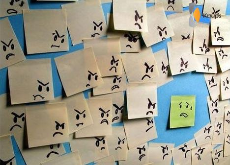 post-it opstand