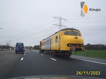 trein op de weg