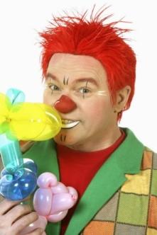 clown met rood haar